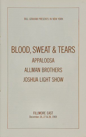 The Allman Brothers Band Program reverse side
