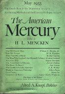 The American Mercury Magazine May 1933 Magazine