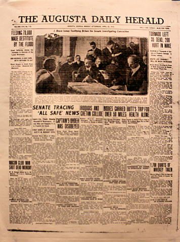 The Augusta Daily Herald April 22, 1912 Poster