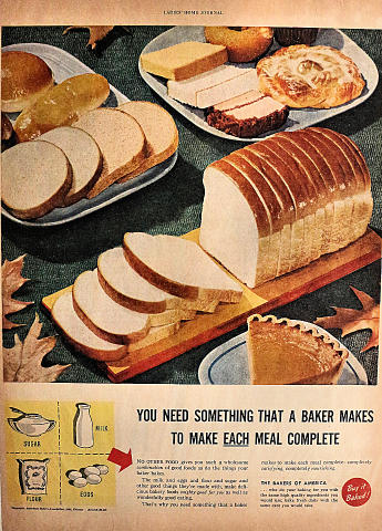 The Bakers Of America: Buy It Baked! Vintage Ad