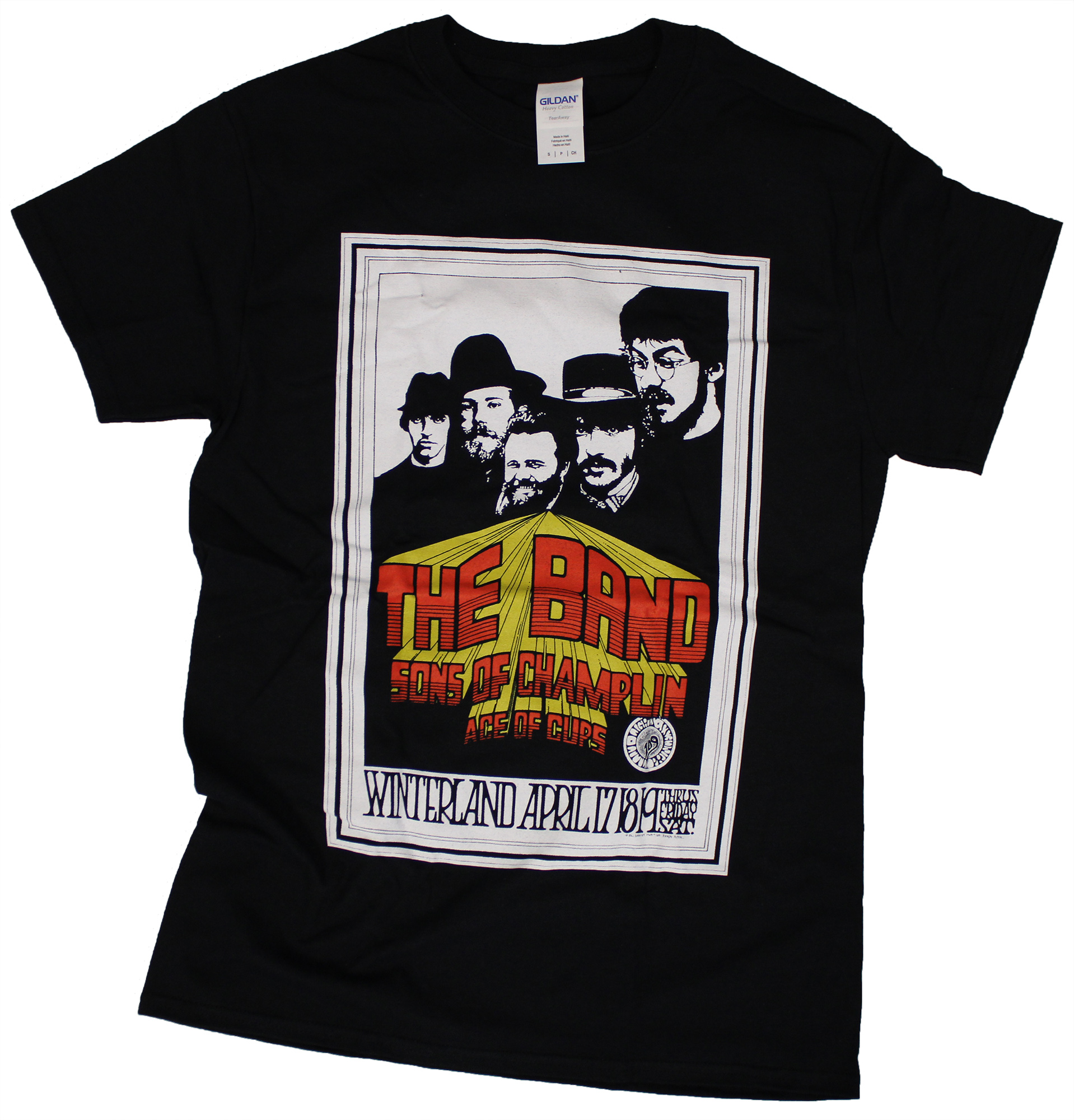 The Band Men 39 S T Shirt From Winterland Apr 17 1969 At