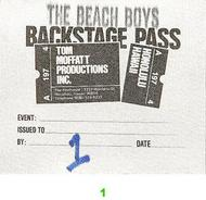 The Beach Boys Backstage Pass