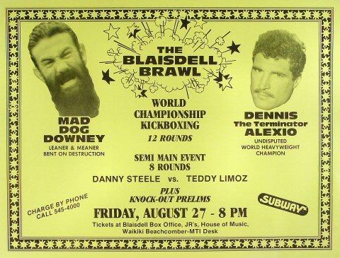 The Blaisdell Brawl Poster