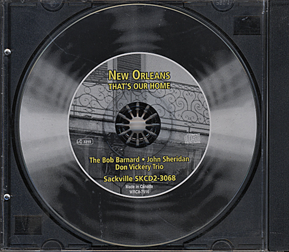 The Bob Barnard / John Sheridan / Don Vickery Trio CD