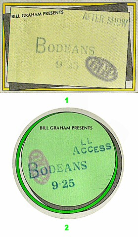 The BoDeans Backstage Pass