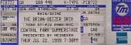 The Brian Setzer Orchestra Vintage Ticket