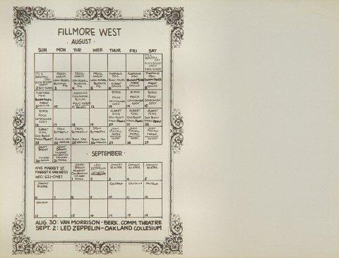 The Byrds Handbill reverse side