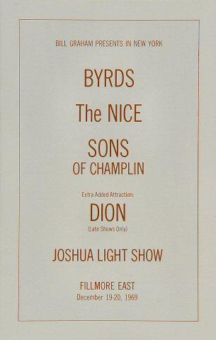 The Byrds Program reverse side