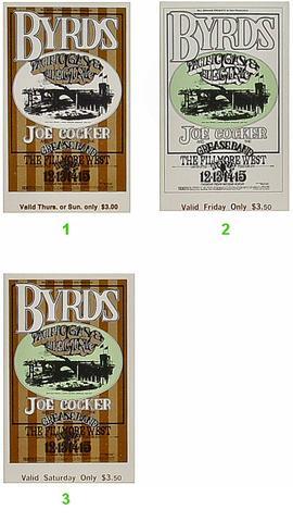 The Byrds Vintage Ticket