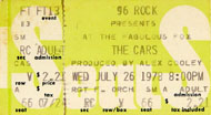 The Cars Vintage Ticket