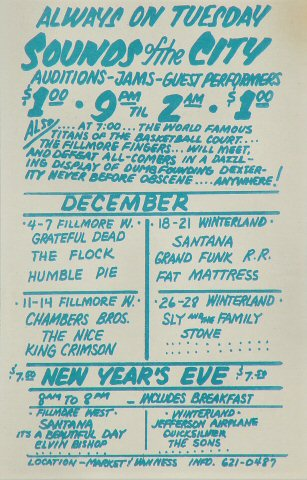 The Chambers Brothers Handbill reverse side