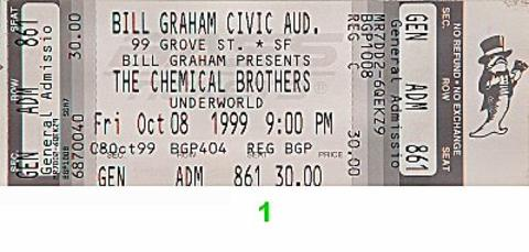 The Chemical Brothers Vintage Ticket