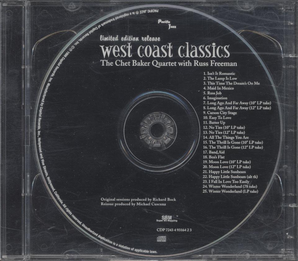 The Chet Baker Quartet CD