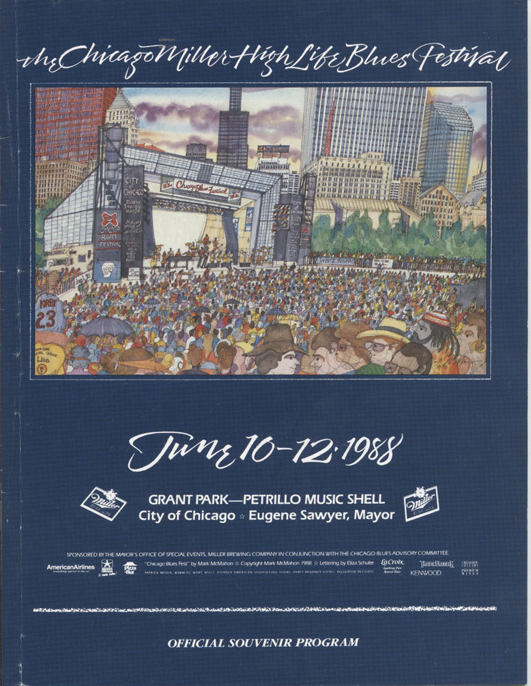 The Chicago Miller High Life Blues Festival Program