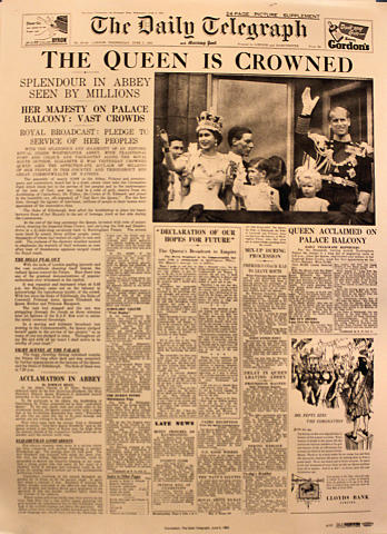 The Daily Telegraph June 3, 1953 Poster