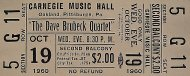 The Dave Brubeck Quartet Vintage Ticket
