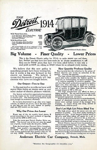 The Detroit Electric: Model 48 Detroit Duplex Drive Vintage Ad