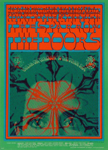 The Doors Postcard  sc 1 st  Wolfgangu0027s & The Doors Postcard from Avalon Ballroom Mar 3 1967 at Wolfgangu0027s