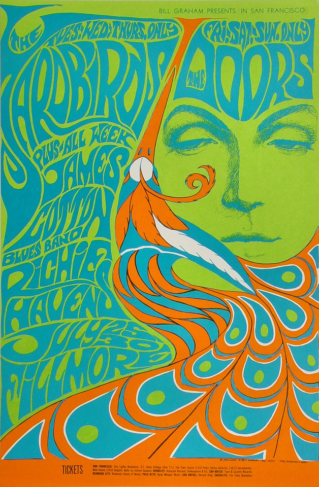 The Doors Poster  sc 1 st  Wolfgangu0027s & The Doors Poster from Fillmore Auditorium Jul 25 1967 at Wolfgangu0027s