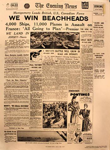 The Evening News June 6, 1944 Poster
