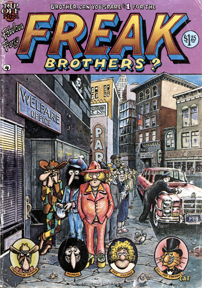 The Fabulous Furry Freak Brothers No. 4 Comic Book