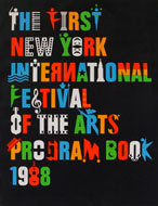 The First New York International Festival Of The Arts Program