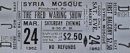 The Fred Waring Show Vintage Ticket