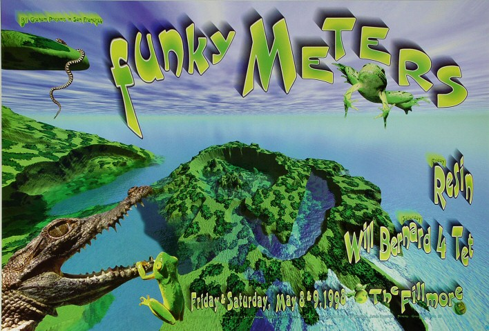 The Funky Meters Poster