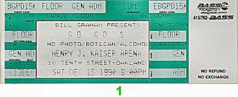 The Go-Go's Vintage Ticket