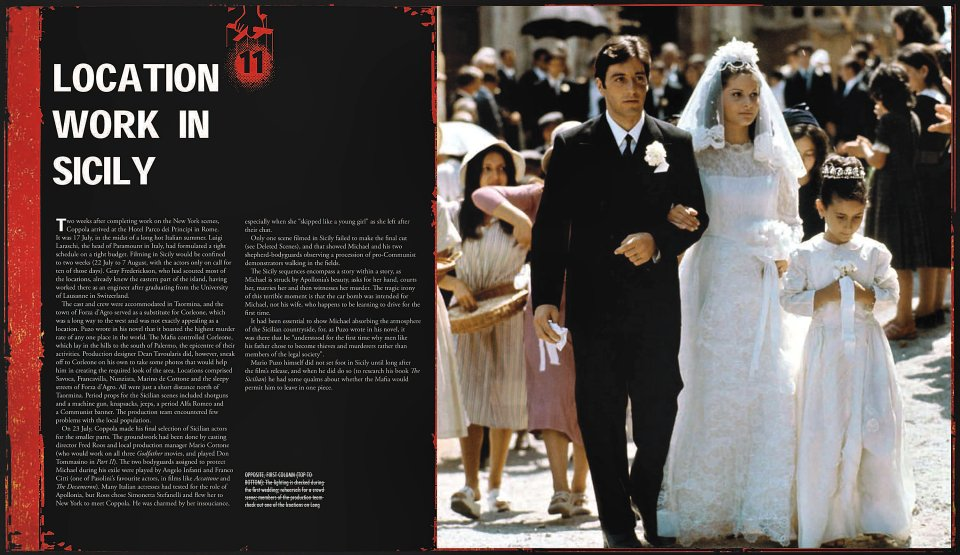 The Godfather - The Official Motion Picture Archives reverse side