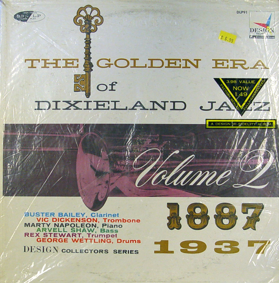 "The Golden Era of Dixieland Jazz: Volume 2 1887-1937 Vinyl 12"" (Used)"