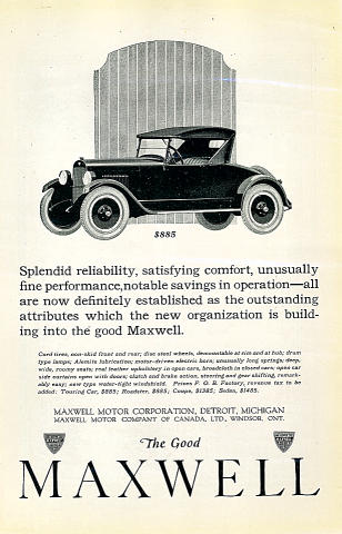 The Good Maxwell: Touring / Roadster Vintage Ad