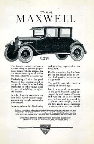 The Good Maxwell Vintage Ad