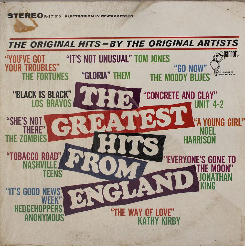 """The Greatest Hits From England Vinyl 12"""" (Used)"""