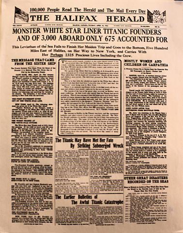 The Halifax Herald April 16, 1912 Poster