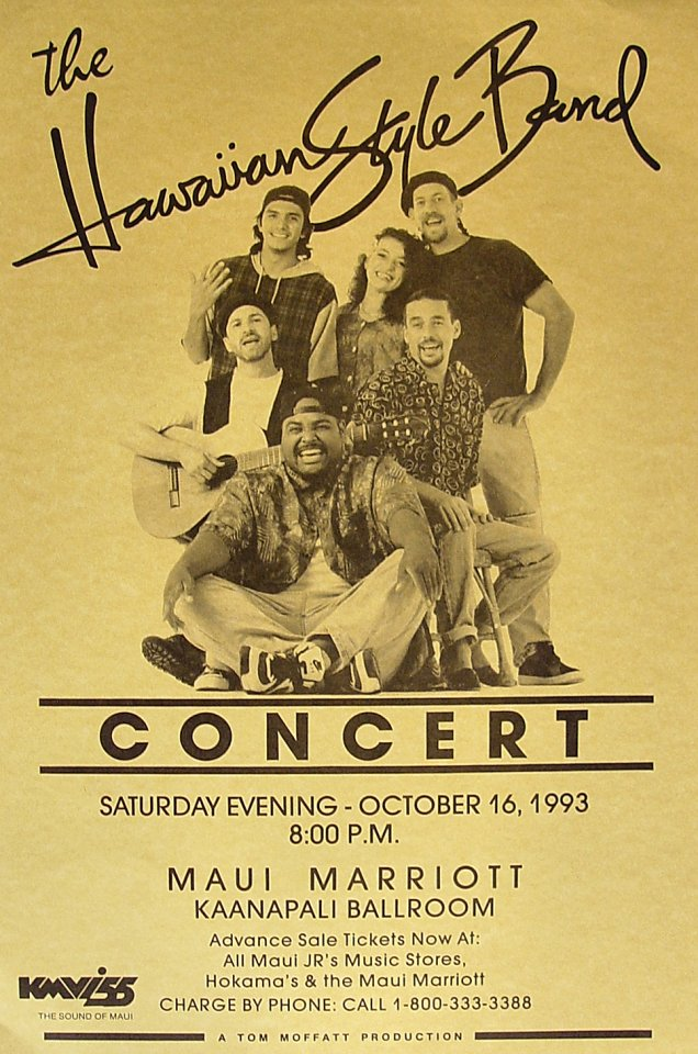 The Hawaiian Style Band Poster