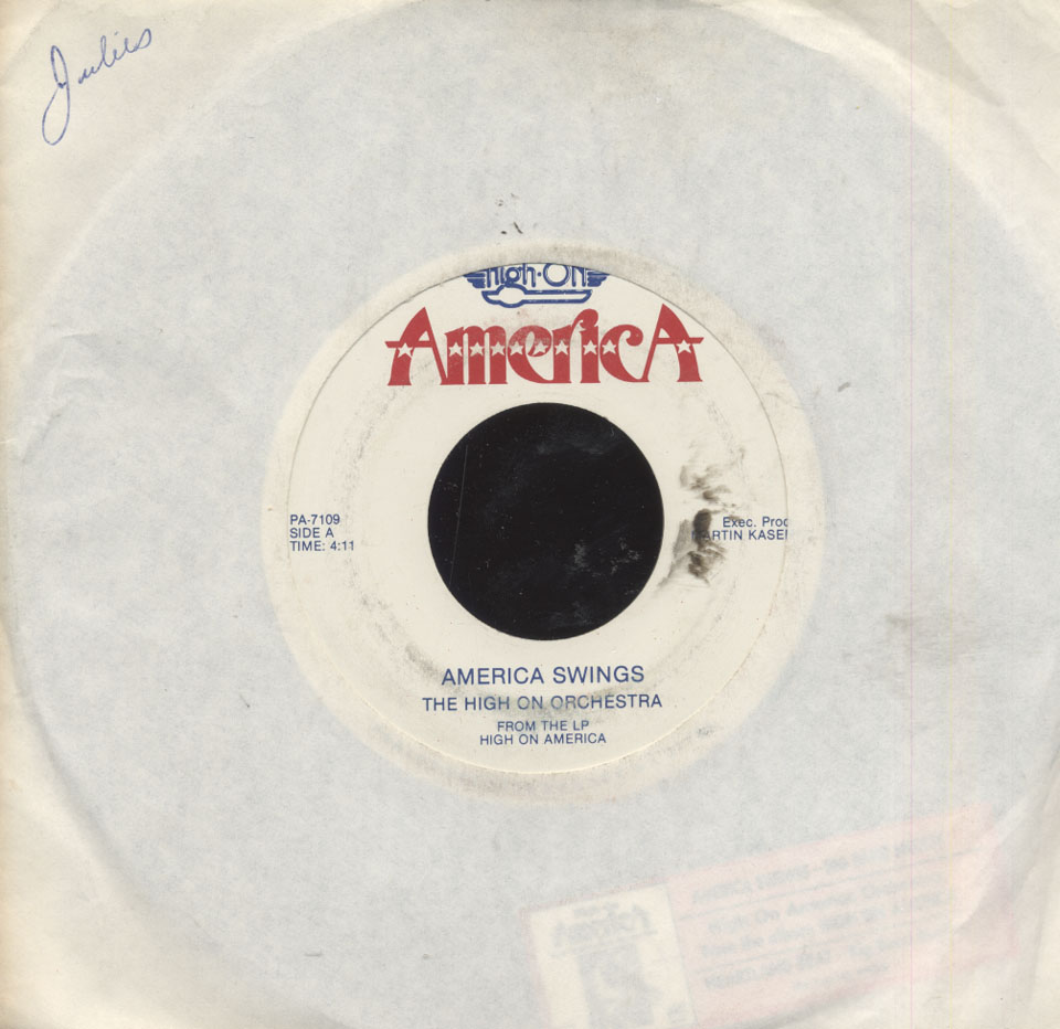 """The High On Orchestra Vinyl 7"""" (Used)"""