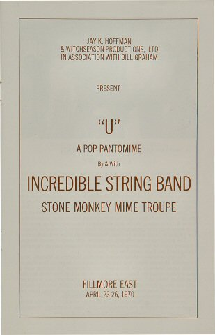 The Incredible String Band Program reverse side