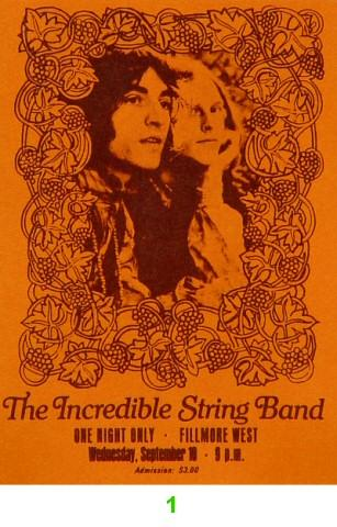 The Incredible String Band Vintage Ticket