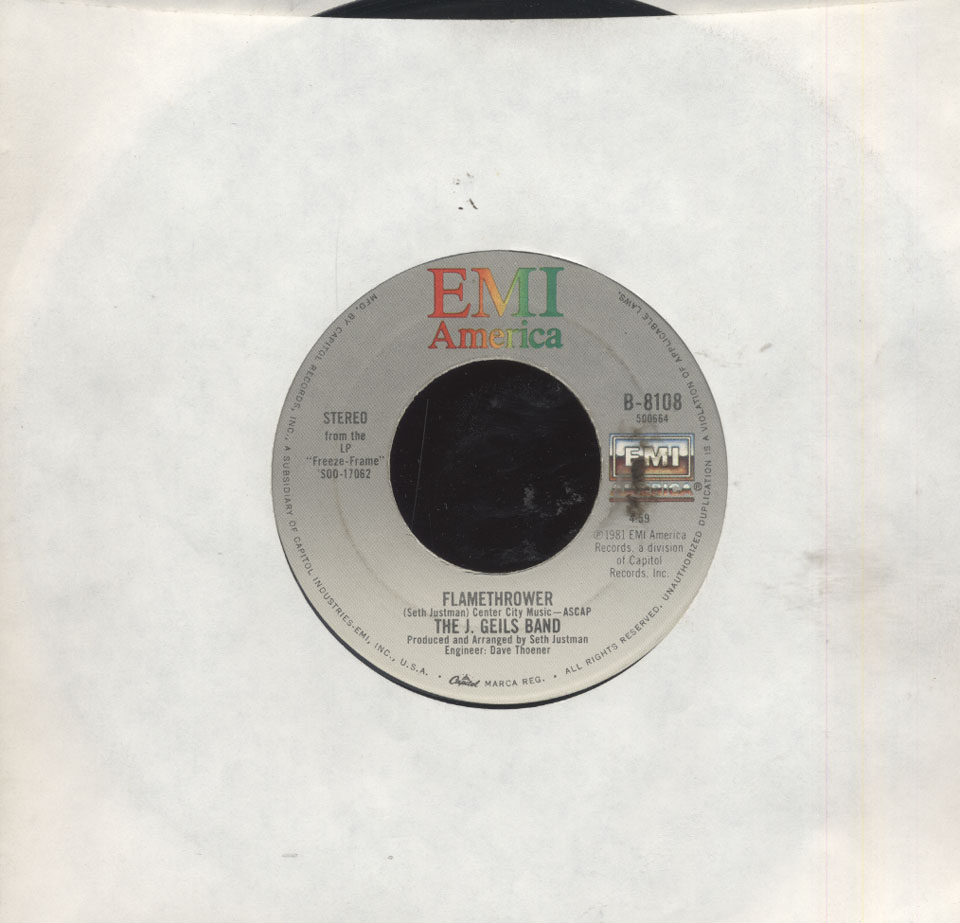 """The J. Geils Band Vinyl 7"""" (Used)"""