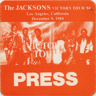 The Jacksons Backstage Pass
