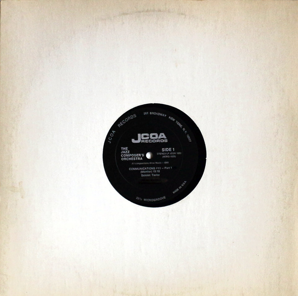 """The Jazz Composer's Orchestra Vinyl 12"""" (Used)"""