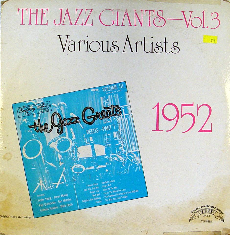 """The Jazz Giants - Vol.3 1952 Vinyl 12"""" (Used)"""