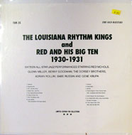 "The Louisiana Rhythm Kings / Red & His Big Ten Vinyl 12"" (New)"