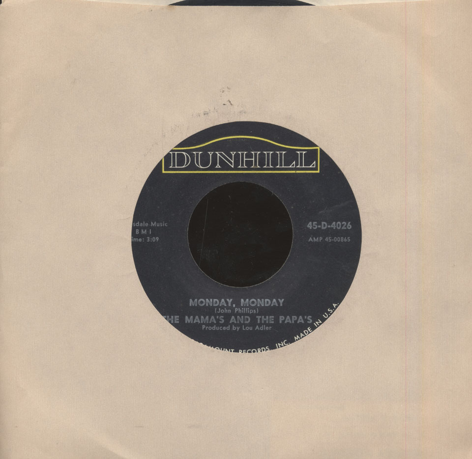 """The Mamas & the Papas Vinyl 7"""" (Used)"""