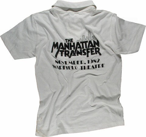The Manhattan Transfer Men's Vintage T-Shirt reverse side