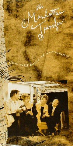 The Manhattan Transfer Poster reverse side