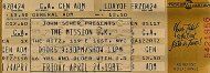 The Mission U.K. Vintage Ticket