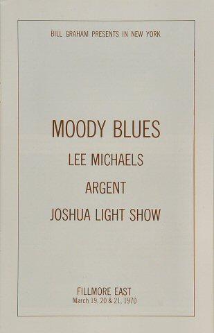 The Moody Blues Program reverse side