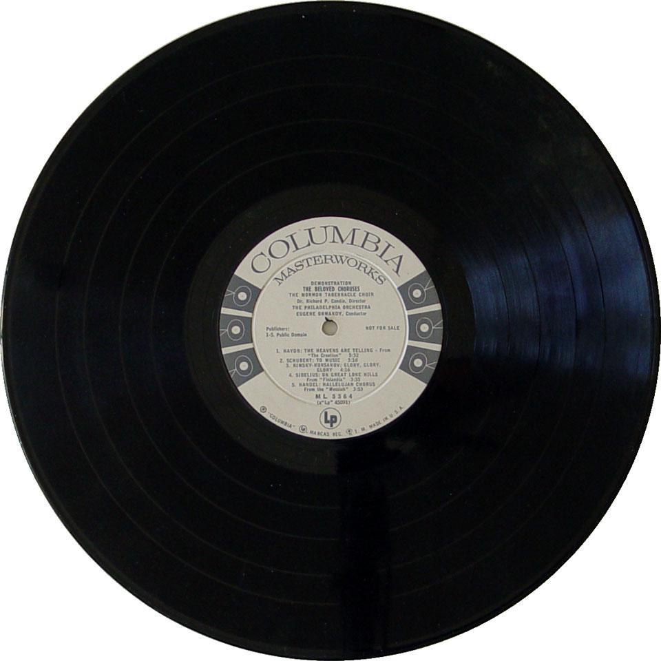 "The Mormon Tabernacle Choir Vinyl 12"" (Used)"